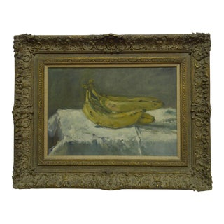 """""""Banana's"""" Signed Original Framed Painting on Canvas by Frederick McDuff"""
