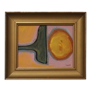 Abstract Painting in a Vintage Frame by Shawn Savage For Sale