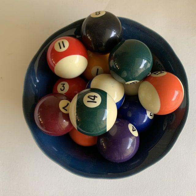 Bowl of Billiard Balls, Pool Balls, Set of Fourteen For Sale - Image 10 of 12