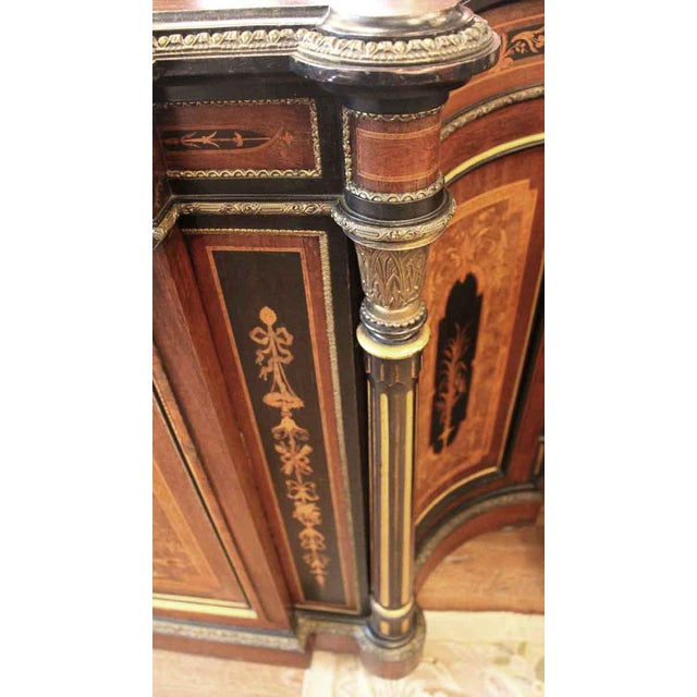 Early 19th Century 19th Century Renaissance Rosewood Bronze Mounted Credenza For Sale - Image 5 of 10