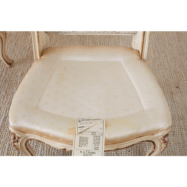 Pair of French Provincial Five-Leg Slipper Chairs For Sale In San Francisco - Image 6 of 13