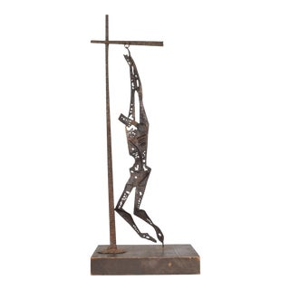 Mid-Century Modern Savior of Auschwitz Abstract Sculpture by Emaus For Sale