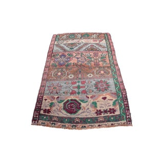 "20th Century Turkish Rug-Muted Tone Rug - 33"" X 21"" For Sale"