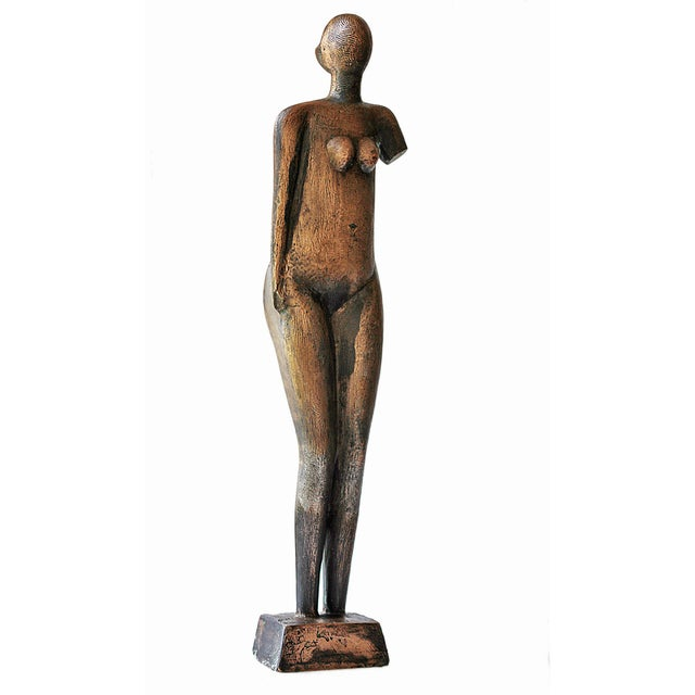Mid-Century Abstract Bronze Sculpture - Image 2 of 6