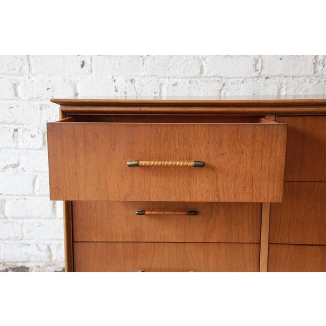 Walnut Mid-Century Modern Long Dresser by Century Furniture For Sale - Image 7 of 10