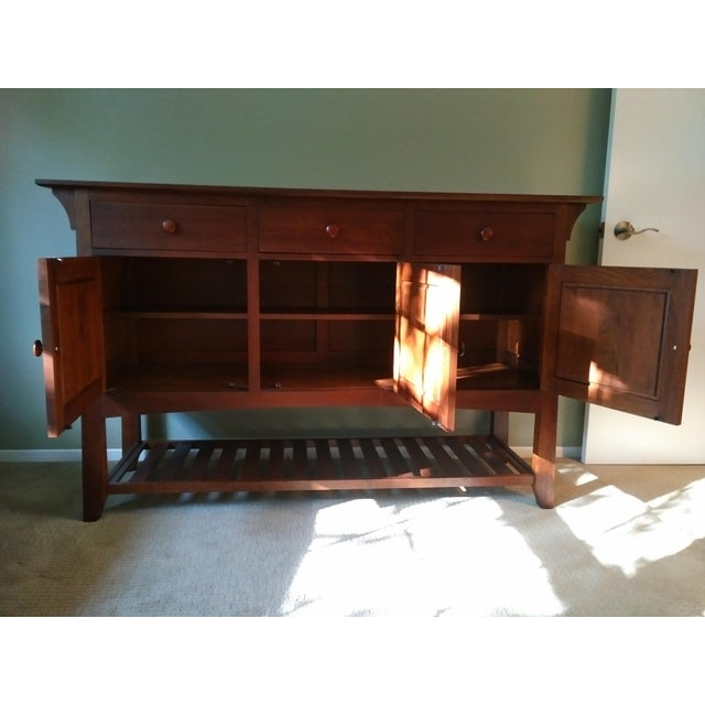 Ethan Allen American Impressions Cherry Buffet For Sale - Image 5 of 8