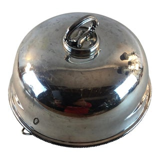 Silver Plate Serving Food Warmer Dome Lid For Sale