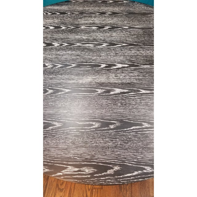 Wood Worlds Away Black Cerused Oak Table For Sale - Image 7 of 8