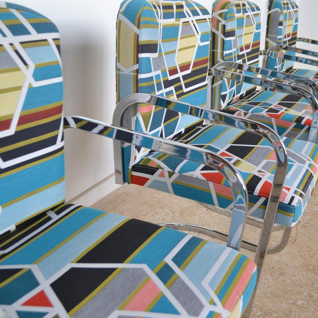 Design Institute of America Set of Four Chairs with Maharam Fabric - Image 10 of 11