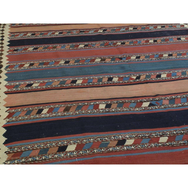 Islamic Antique Shahsavan Kilim For Sale - Image 3 of 9