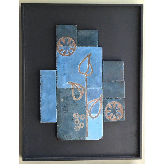 Abstract Set of Three Glazed Tile Assemblages from the South of France For Sale - Image 3 of 6