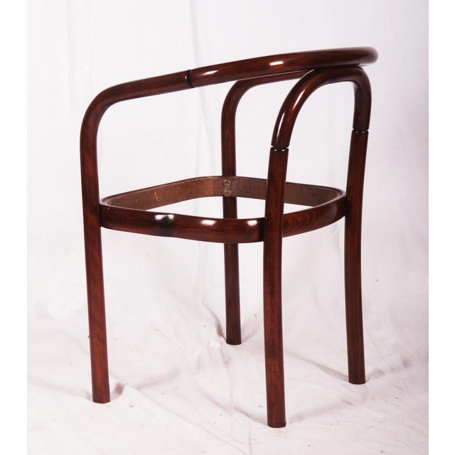 This minimalistic beech bentwood chair was made in the 1970s by TON (formely Thonet factory at Bystrice pod Hostinem in...