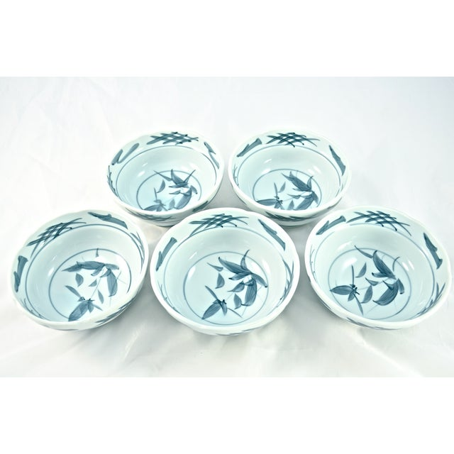 Blue & White Chinoiserie Bowls - Set of 5 - Image 2 of 5
