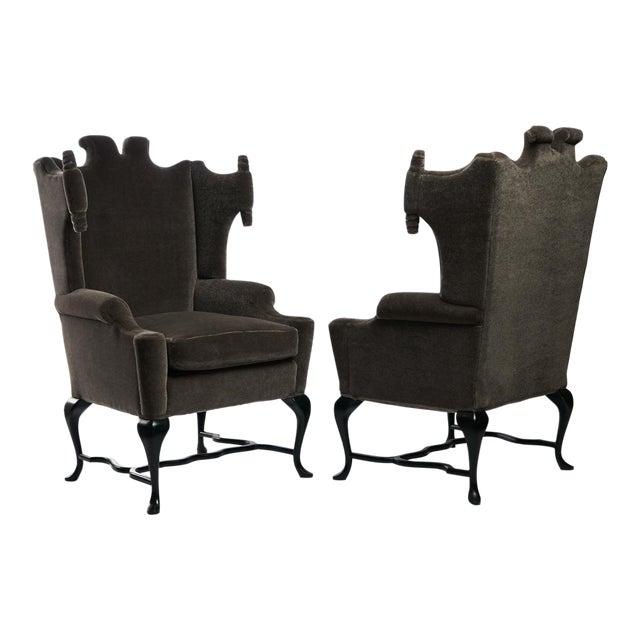 Arturo Pani Wingback Chairs For Sale