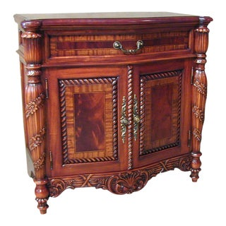 Nightstand Lexington Bow Front Carved Rope For Sale