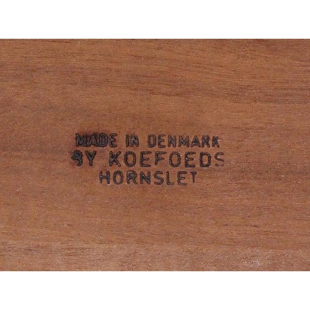 Wood 6 Danish Teak Chairs by Niels Koefoeds For Sale - Image 7 of 10