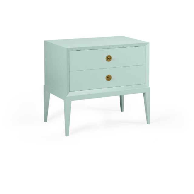 Transitional Casa Cosima Hayes 2-Drawer Side Chest, Palladian Blue For Sale - Image 3 of 3