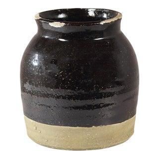 Black Ceramic Distressed Vase