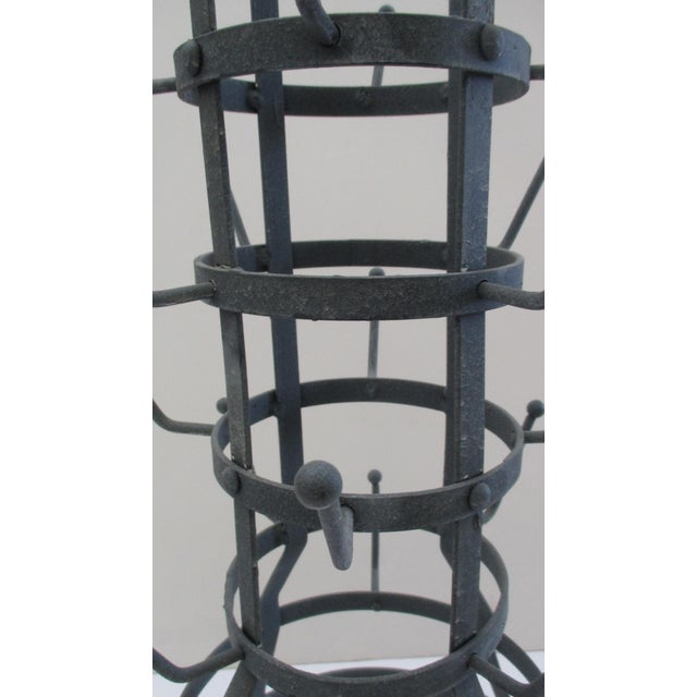 Country French Zinc Cup Holder or Wine Bottle Drying Rack For Sale - Image 5 of 6