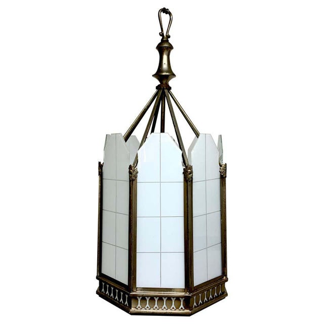 Art Deco Octagon Lantern From the El Cid Theatre, Los Angles For Sale - Image 11 of 11