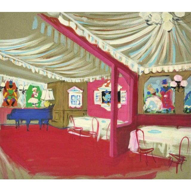 1950s Am. Rémy, Vintage French Gouache - Paris Cabaret For Sale - Image 5 of 5