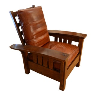 Stickley Bow Arm Morris Chair For Sale