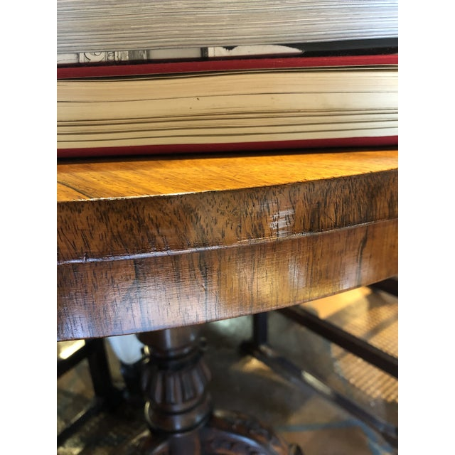Wood 19th Century English Regency Rosewood Pedestal Table For Sale - Image 7 of 10