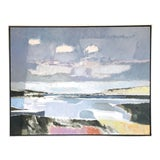 Image of Late 20th Century Abstract Coastal Oil Painting by Frank McCoy, Framed For Sale