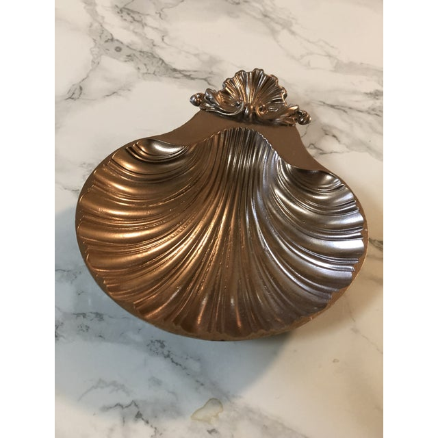 Vintage beautiful metal silver trinket tray. Rose gold. Made in the 1940s.