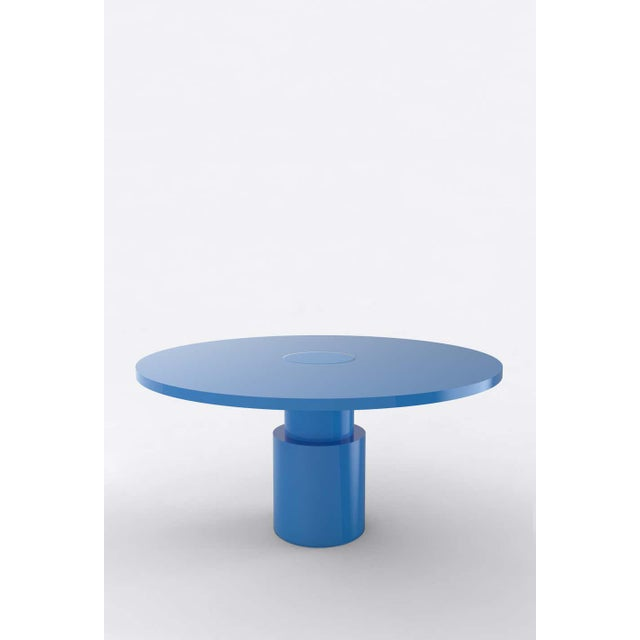 Postmodern Contemporary 100C Dining Table by Orphan Work, 2020, Blue For Sale - Image 3 of 3
