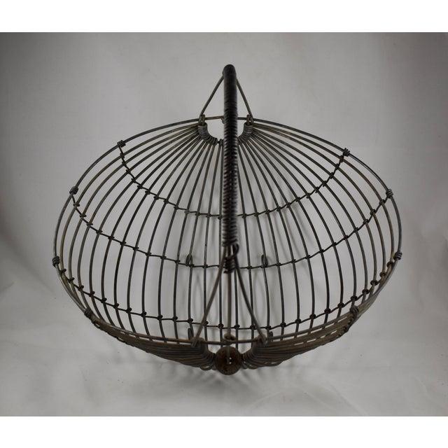 1970s Karl Howard Galvanized Steel Handmade Art Basket, Signed For Sale - Image 9 of 13