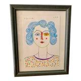 Image of Original Artisan Pop Art Portrait Drawing For Sale