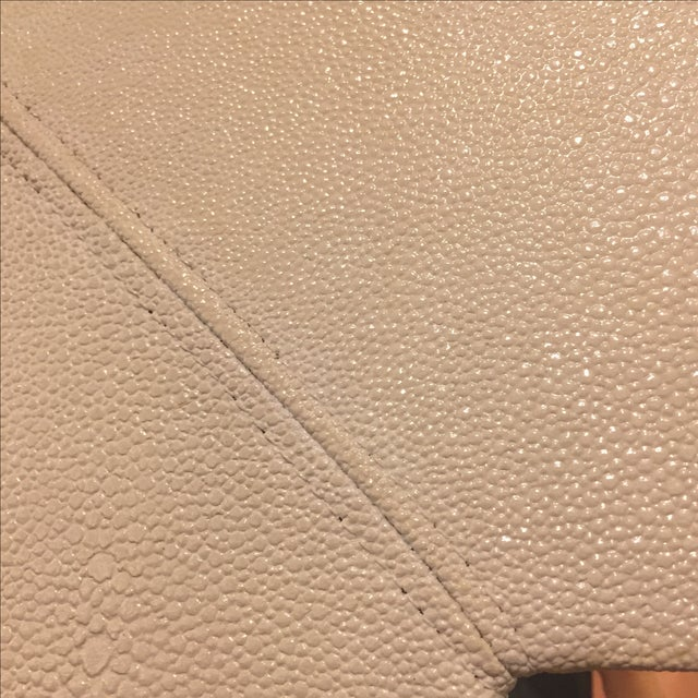 Large Ivory Shagreen Floor Mirror - Image 6 of 7