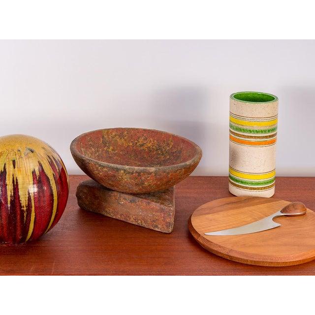 Bitossi Rosenthal Netter Striped Italian Vase for Bitossi For Sale - Image 4 of 7