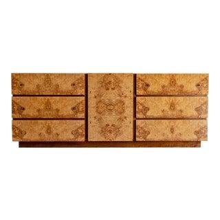 1970s Mid-Century Modern Roland Carter for Lane Furniture Company Burl Wood Dresser For Sale