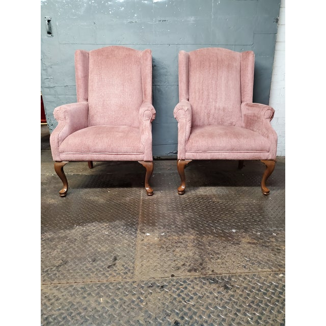 1950s Vintage Blush Pink Velvet Armchairs - a Pair For Sale - Image 5 of 12