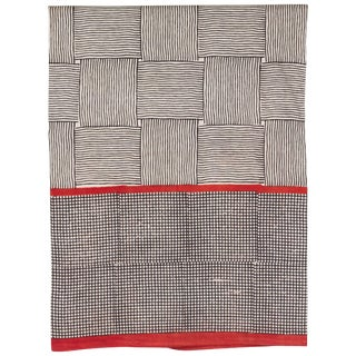 Gopal Indian Block Print Cotton Bedcover in Red and Black For Sale