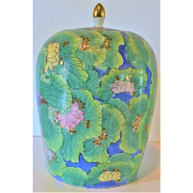 (Price Firm) Chinese Lotus and Swallow Ginger Jar For Sale - Image 9 of 9