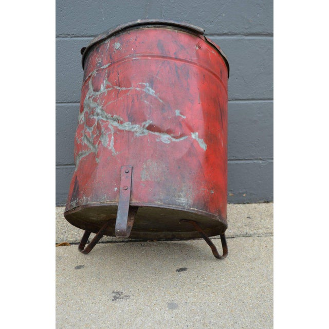 Industrial Rag Bin with Hinged Lid - Image 6 of 10