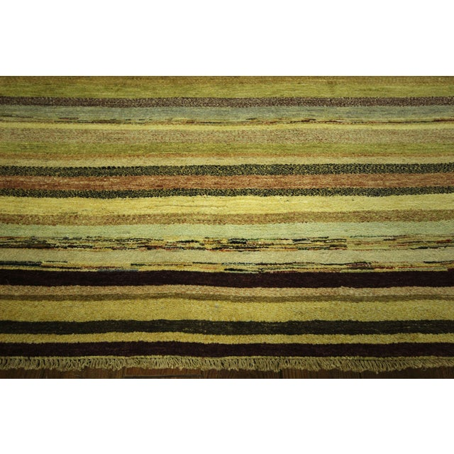 "Oushak Collection Striped Gabbeh Rug - 5'7"" x 8'1"" - Image 5 of 10"