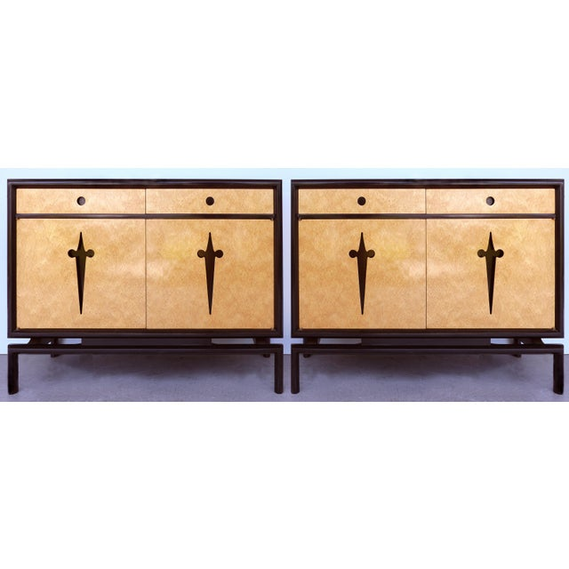 Edmund Spence Bird's Eye Maple Cabinets (Sweden C1960) - a Pair For Sale - Image 13 of 13
