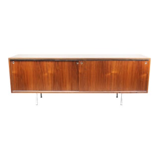1960s George Nelson for Herman Miller Walnut Executive Office Group Credenza For Sale
