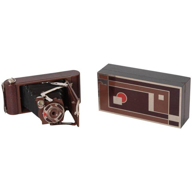Machine Age Art Deco Walter Dorwin Teague Kodak Gift 1A Camera with Case For Sale - Image 11 of 11