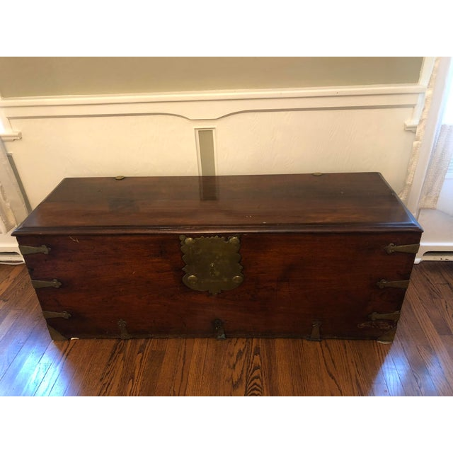 Late 18th Century Antique Sea-Man's Chest For Sale - Image 4 of 12