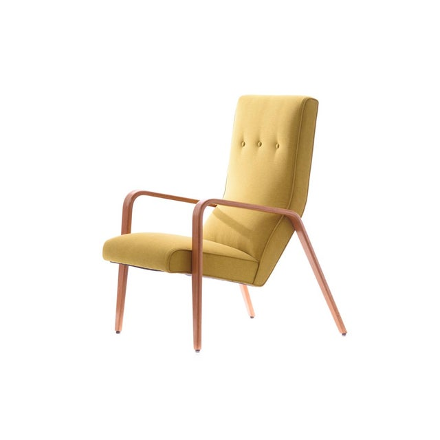 Thonet Mid-Century Modern Bentwood Style Lounge Chair For Sale - Image 5 of 5