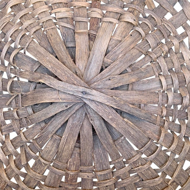 Massive 19th Century Oak Splint Wool Basket For Sale - Image 12 of 13