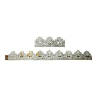 19th C. French Zinc Architectural Trim Elements, 2 Pieces For Sale