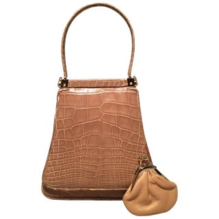 Judith Leiber Vintage Tan Alligator Mini Evening Bag For Sale
