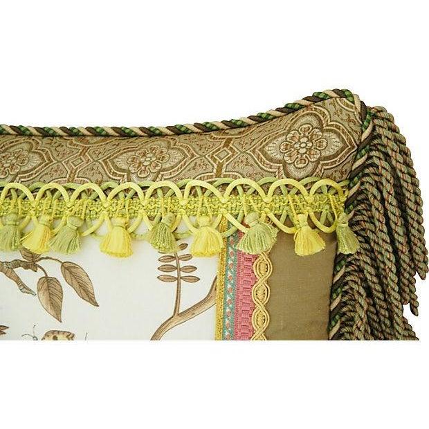 Custom Brunschwig & Fils Bird & Thistle Pillow - Image 3 of 5