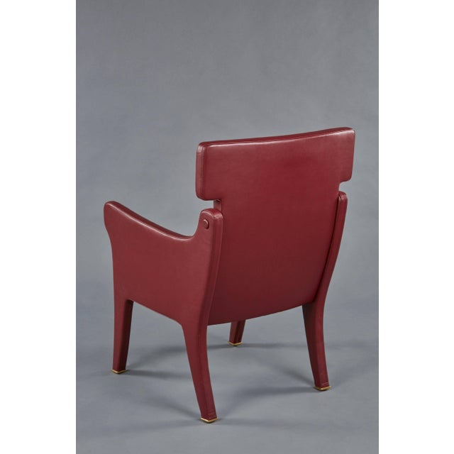 1960s Pair of Ignazio Gardella Leather Chairs For Sale - Image 5 of 9